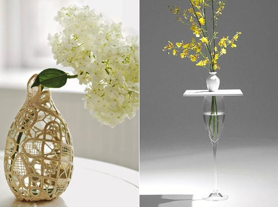 diy vase aus glas und spitzendeckchen_vasen selbst gestalten als kreative dekoidee und geschenke zum selber machen