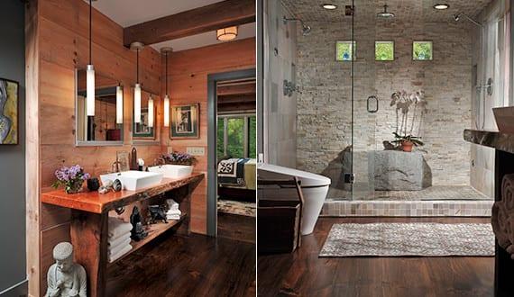 moderne badezimmer im vintage style mit moderne duschkabine und vintage waschtisch freshouse. Black Bedroom Furniture Sets. Home Design Ideas