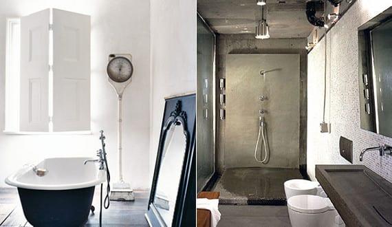 moderne badezimmer im vintage style bad mit beton dusche und waschbecken beton und badezimmer. Black Bedroom Furniture Sets. Home Design Ideas