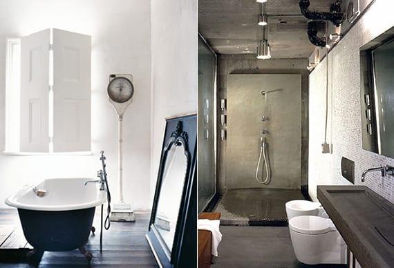 vintage badezimmer modern einrichten mit badewanne oder dusche_coole badezimmer ideen für vintage bad