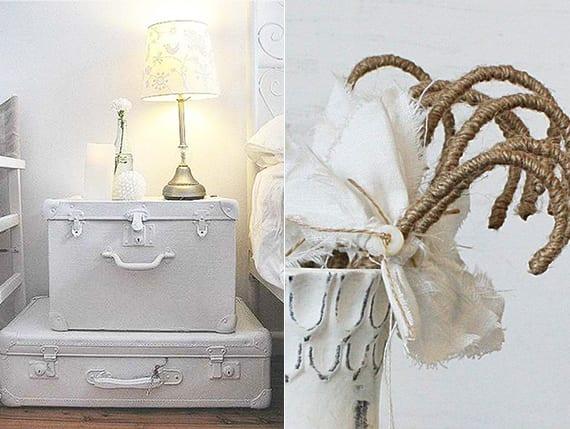 kreative deko ideen in weiß für diy vintage deko