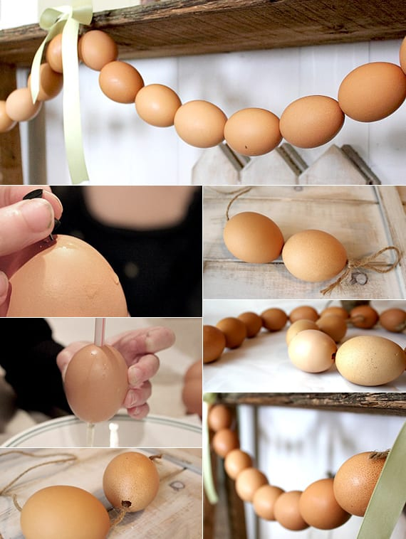 bastelideen ostern mit eierschelen_osterdeko basteln ideen