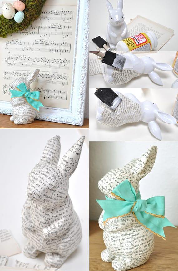 osterhase basteln mit papier als idee für originelle osterdekoration und osterdeko basteln