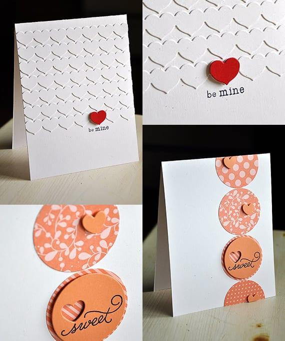 Valentinstag Karte basteln_coole valentinstag ideen für Valentinskarten