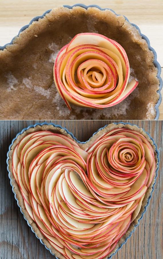 rezepte für verliebte und für ein leckeres romantisches Frühstück mit Obstkuchen