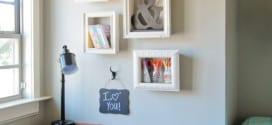 Wand gestalten mit DIY Deko aus Bilder Rahmen