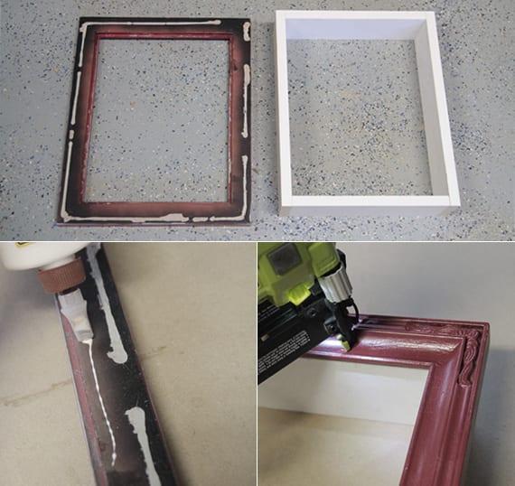 bilder rahmen für diy deko_einfache bastelideen mit holz für kreative wandgestaltung mit DIY Wandregalen