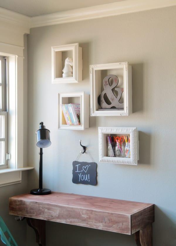 wanddeko diy und einfache bastelideen für diy deko mit alten bilderrahmen