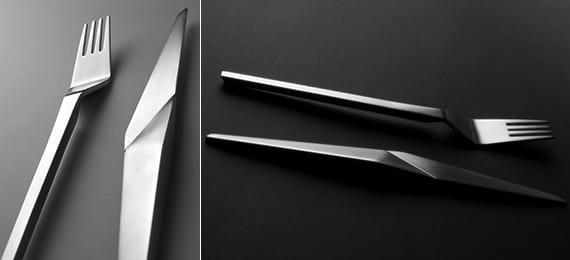 tisch eindecken mit designer-besteck