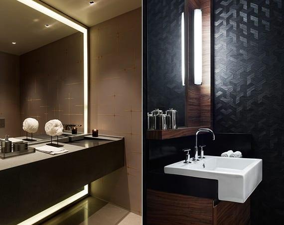 Bad modern gestalten mit Licht - fresHouse