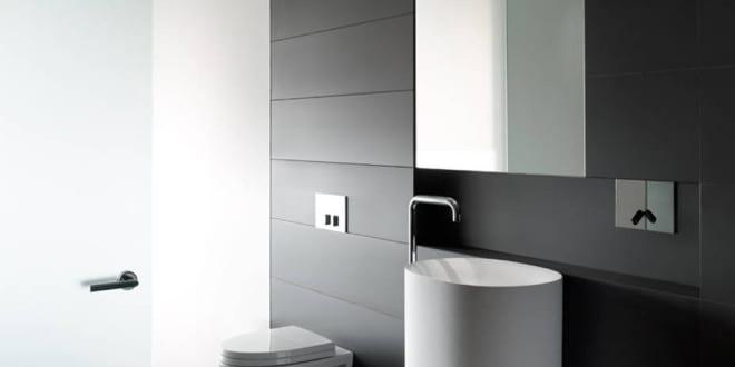 bad modern gestalten mit licht durch indirekter beleuchtung ber opake glast r freshouse. Black Bedroom Furniture Sets. Home Design Ideas