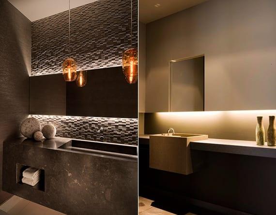 moderne badezimmer gestalten mit 3d natursteinplatten und modernem waschtisch grau_moderne waschtische aus beton für moderne badgestaltung