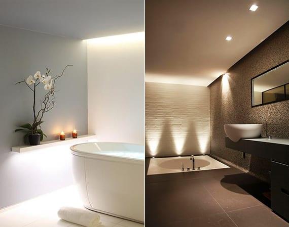 gestalten sie das bad modern durch das richtige lichtkonzept_beleuchtete wandregale und bodeneinbauleuchte im bad