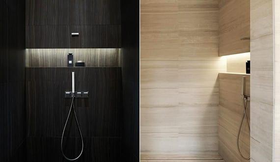 bad modern gestalten mit licht coole badezimmer ideen f r dusche mit wandnische und indirekter. Black Bedroom Furniture Sets. Home Design Ideas