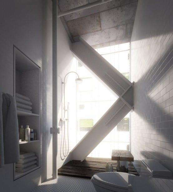 ideen für moderne badezimmer in weiß mit fenster für beleuchtung im bad mit tageslicht