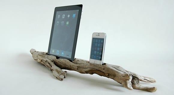 basteln mit holz als designinspiration für selbstgemachtes Dock für smartphone und tablet
