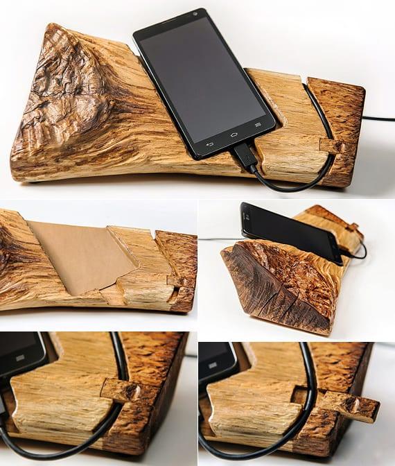 wie mache ich ein dock für smartphones aus holz