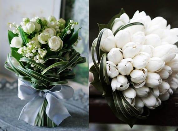 blumenschmuck hochzeit mit weißen tulpen_inspiration für weißen brautstrauß