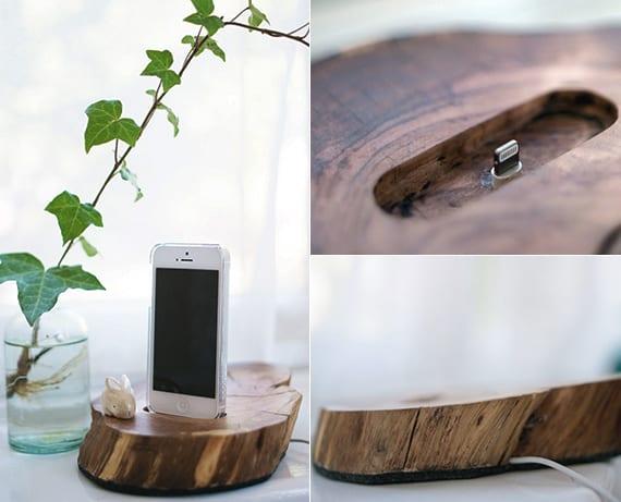 basteln mit holz als designinspiration für DIY idock_Dock für iphone und ipad selber basteln
