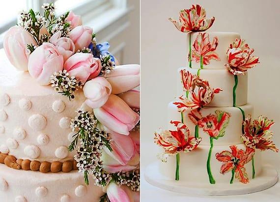 tulpen für blumendeko hochzeit und dekoration der hochzeitstorte