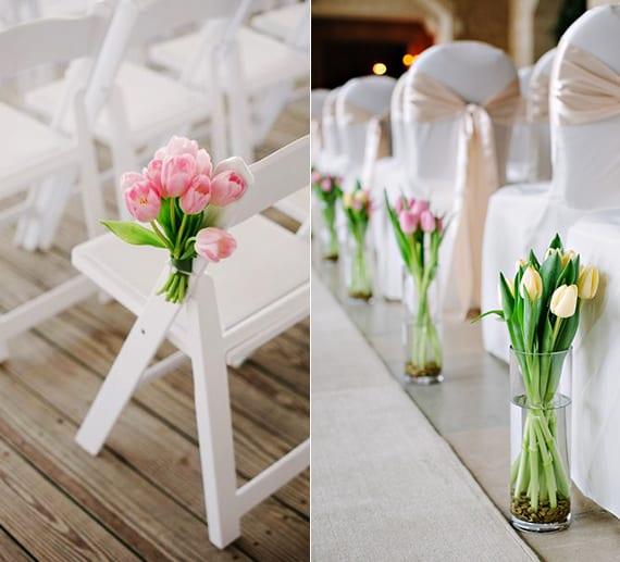 altar-blumenschmuck ideen mit tulpen