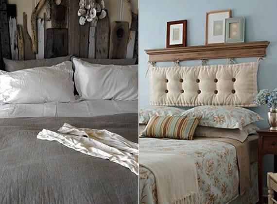 schlafzimmer inspiration für originelle bett kopfteile aus holzbrettern oder aus Sitzkissen