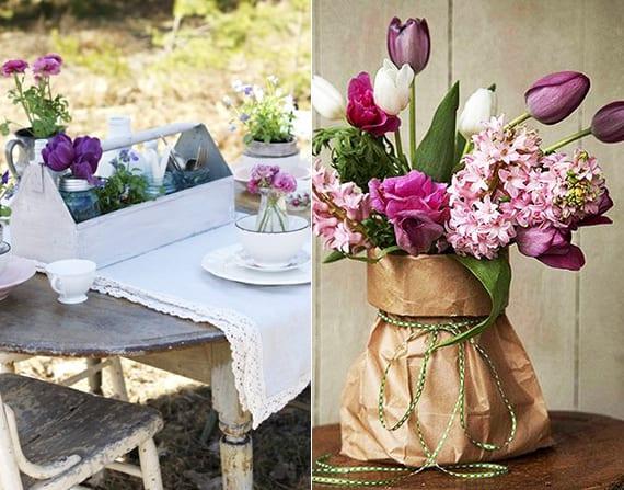 tulpen als tischdekoration_coole idee für blumendeko