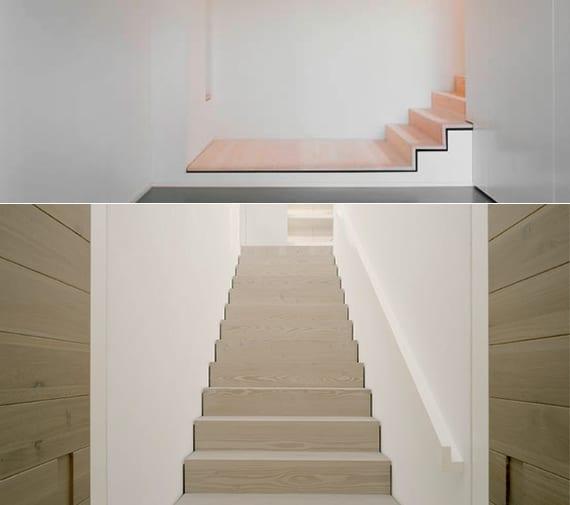 moderne Innentreppe aus holz als designinspiration für moderne raumgestaltung