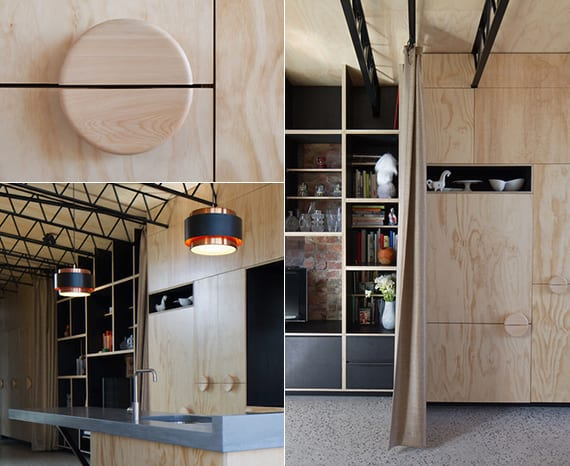 designinspiration für moderne holzschränke mit runden türgriffen aus holz als idee für moderne wandgestaltung