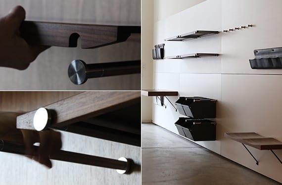 designinspiration für moderne Wandregale aus holz und aufbewahrungsboxen