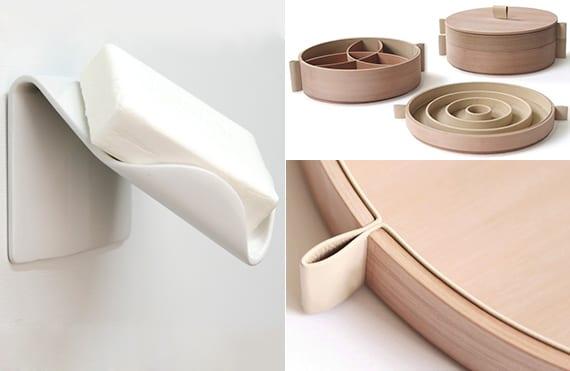 design inspiration für modernen seifenbehälter für wand und Schmuckkasten rund aus holz und leder
