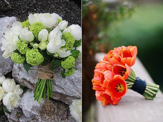 inspiration für blumenschmuck mit tulpen