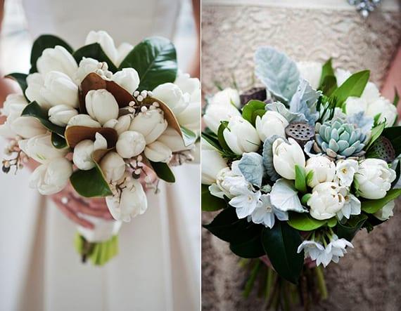 weiße tulpen für brautstrauß und blumendeko hochzeit