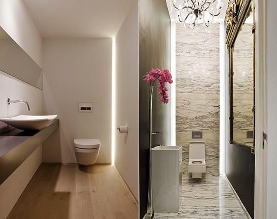 indirekter beleuchtung für moderne badgestaltung kleines badezimmers