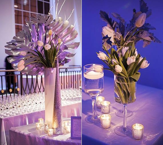 tischdeko mit tulpen im glas als inspiration für raffinierte weiße blumendeko hochzeit