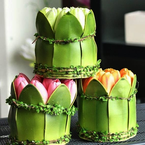 coole dekoideen mit tulpen für eine traumhochzeit