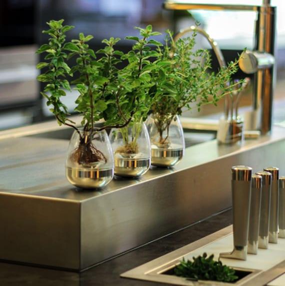 ideen für modernen kräutergarten in der küche