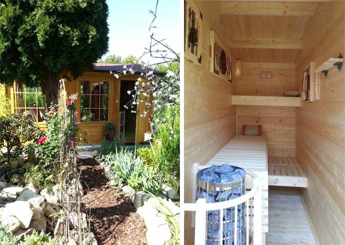 sauna im garten planen als gartenhaus mit modernem design