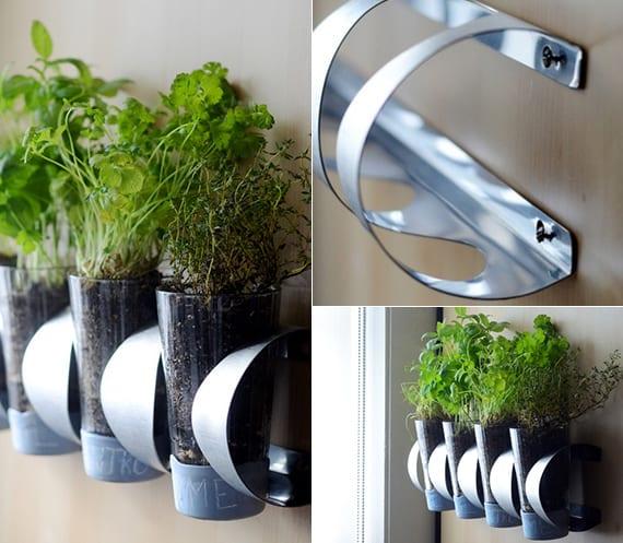 diy kräutergarten selbst anlegen_moderne wandgestaltung mit frischen küchenkräutern