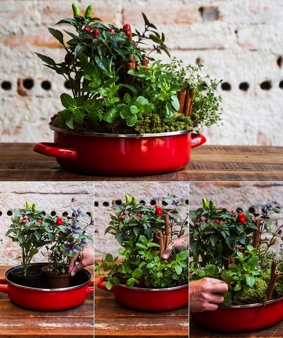 kräutertöpfe kreativ arrangieren und kräutergarten selbst anlegen