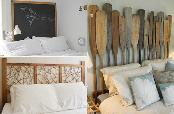 originelle schlafzimmer inspiration und ideen für kreatives Schlafzimmer design mit diy Bett Kopfteil