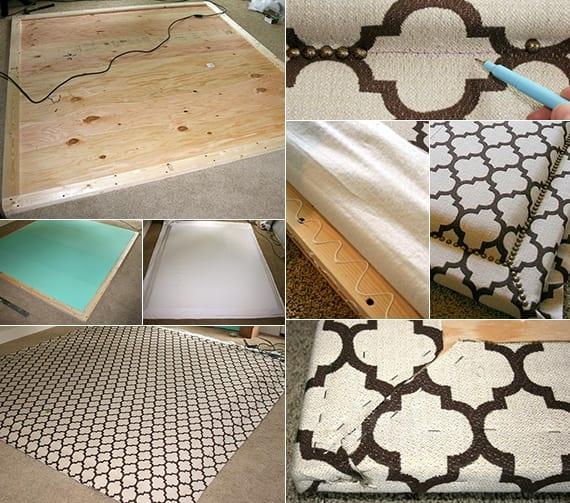 gepolsterte Bett rückwand selber machen als Schlafzimmer inspiration für modernes Schlafzimmer Design