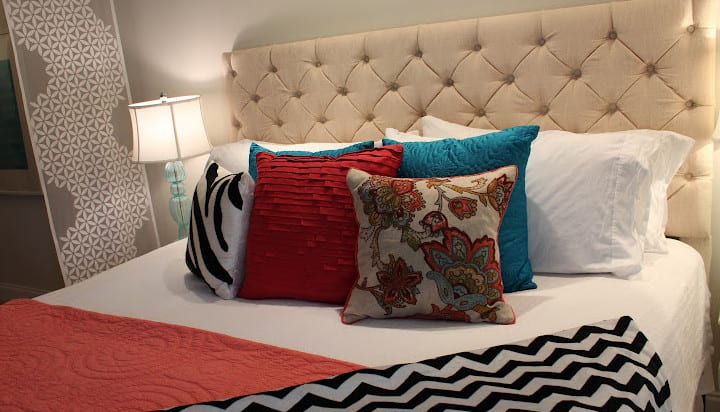 schlafzimmer inspiration für modernes schlafzimmer design kleines schlafzimmers mit diy bett kopfteil gepolstert