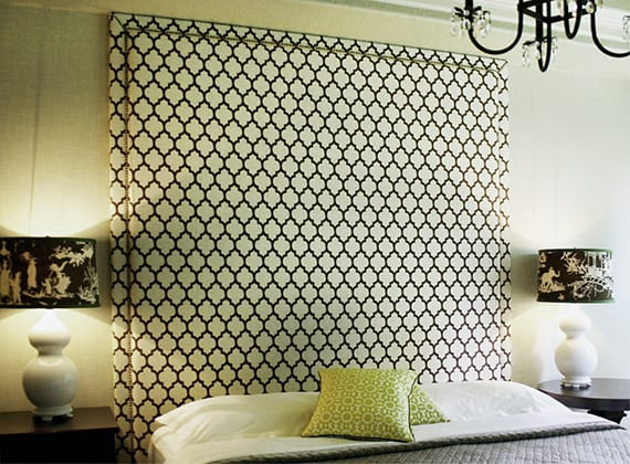 wandgestaltung schlafzimmer mit gepolsterter Rückwand