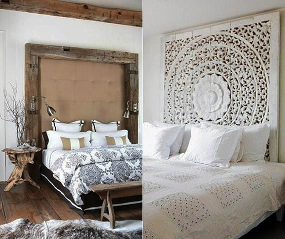 schlafzimmer-ideen-für-bett-kopfteil-selber-machen_originelle-wohnideen-schlafzimmer-mit ...