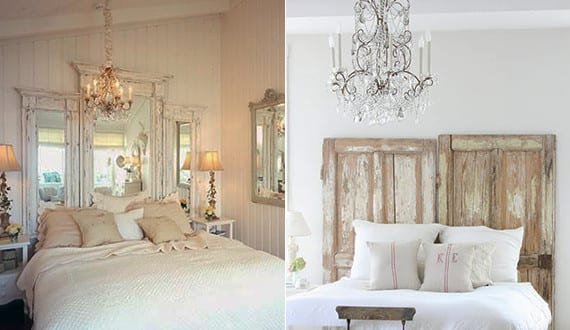 schlafzimmer ideen f r bett kopfteil selber machen aus alten holzt ren freshouse. Black Bedroom Furniture Sets. Home Design Ideas