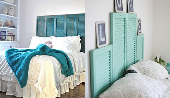 schlafzimmer ideen f r bett kopfteil selber machen aus fensterl den freshouse. Black Bedroom Furniture Sets. Home Design Ideas