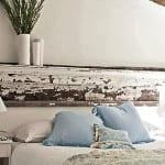 coole schlafzimmer ideen für rustikales schlafzimmer design mit diy kopfteil