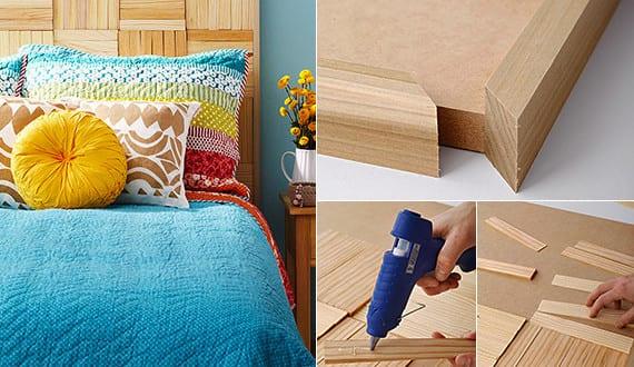 schlafzimmer ideen f r bett kopfteil selber machen aus holzlatten schlafzimmer gestalten kreativ. Black Bedroom Furniture Sets. Home Design Ideas