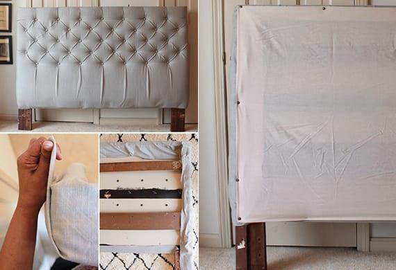 prima schlafzimmer inspiration für selbstgemachten bett kopfteil gepolster mit anleitung